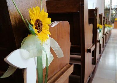 Kirche Sylbach Jubelkonfirmation I 2021 Blumenschmuck