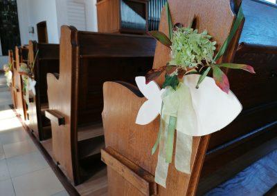 Kirche Sylbach Jubelkonfirmation II 2021 Blumenschmuck 2
